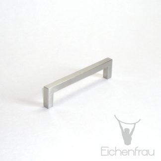 Eichenfrau Bügelgriff eckig Edelstahl matt, 104x25x8 mm