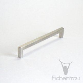 Eichenfrau Bügelgriff eckig Edelstahl matt, 136x25x8 mm