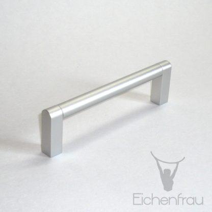 Eichenfrau Bügelgriff Alu silber, 140x40x12 mm