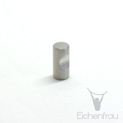 Eichenfrau Möbelknopf Edelstahl matt gebürstet, 12x25 mm