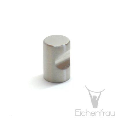 Eichenfrau Möbelknopf Edelstahl matt gebürstet, 20x30 mm
