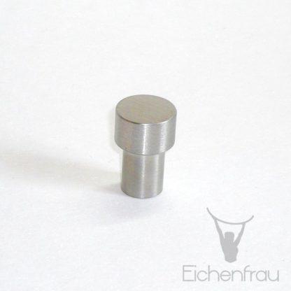 Eichenfrau Möbelknopf Zylinder Edelstahl matt, 20x30 mm