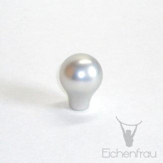 Eichenfrau Möbelknopf Kugel Aluminium silber, 26x34 mm