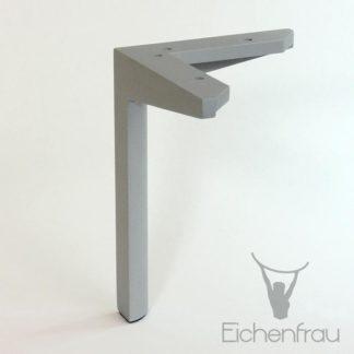Eichenfrau Möbelfuß aus Alu 20 cm