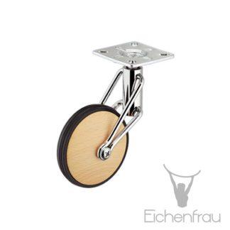 Eichenfrau Design-Lenkrolle Buche 80 mm