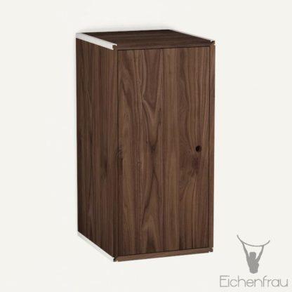 Eichenfrau Eintüriger Schrank form500-46 Massivholz Nussbaum