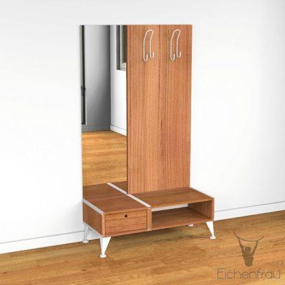 Eichenfrau Garderobe mit Spiegel form500-2 Massivholz Kirschbaum