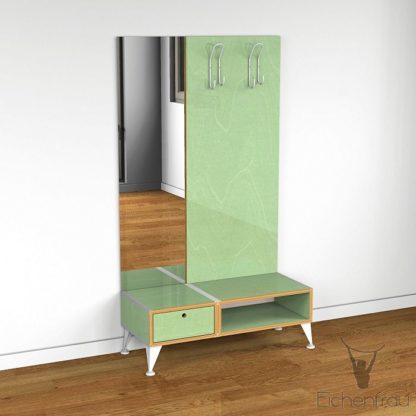 Eichenfrau Garderobe mit Spiegel form500-2 Multiplex Avocado