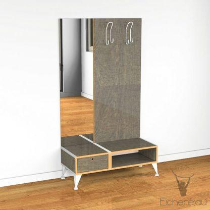 Eichenfrau Garderobe mit Spiegel form500-2 Multiplex Schlamm
