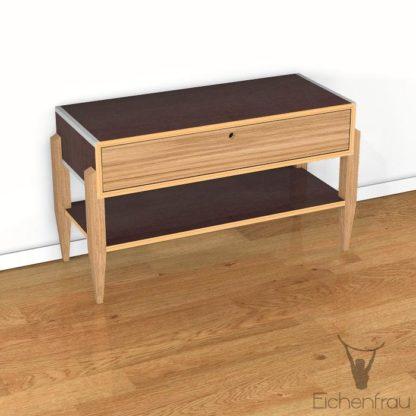 Eichenfrau Lowboard mit Ablagefach form500-44 Massivholz Eiche und Multiplex Chocco