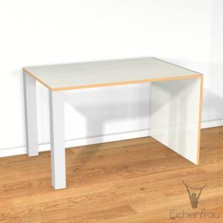 Eichenfrau Schreibtisch form106 Multiplex Naturweiss