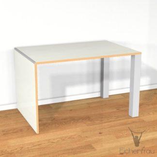 Eichenfrau Schreibtisch form107 Multiplex Naturweiss