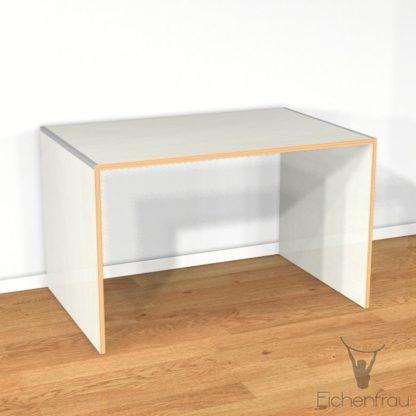 Eichenfrau Schreibtisch form110 Multiplex Naturweiss