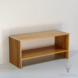 Eichenfrau Sitzbank form301 mit Ablagefach Eiche massiv 01