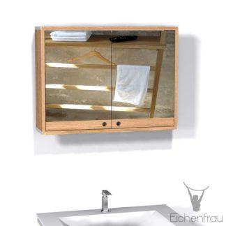 Eichenfrau Spiegelschrank form408 Massivholz Eiche