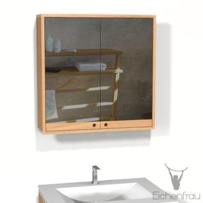Eichenfrau Spiegelschrank form409 Massivholz Eiche
