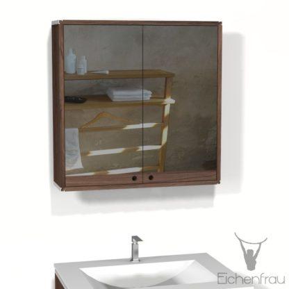 Eichenfrau Spiegelschrank form409 Massivholz Nussbaum