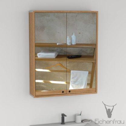 Eichenfrau Spiegelschrank form410 Massivholz Eiche