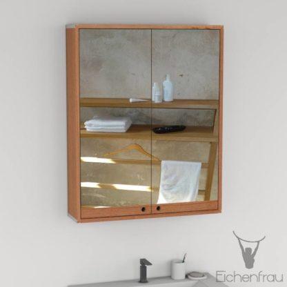 Eichenfrau Spiegelschrank form410 Massivholz Kirschbaum