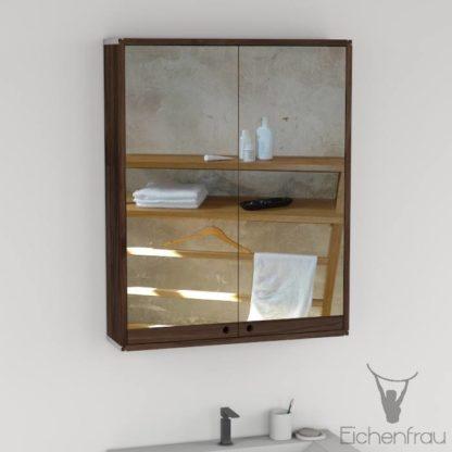 Eichenfrau Spiegelschrank form410 Massivholz Nussbaum