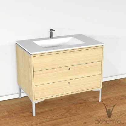 Eichenfrau Waschtisch form404 Massivholz Esche
