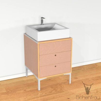Eichenfrau Waschtisch form405 Multiplex Cappuccino