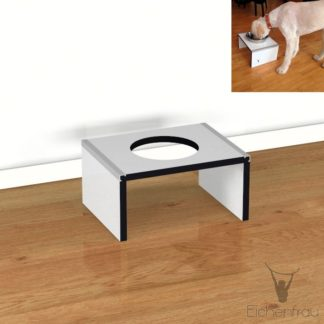 Eichenfrau Hundebar 40x20x31 cm (BxHxT) form950 CDF weiss