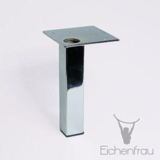 Eichenfrau Möbelfuß aus Stahl verchromt poliert 15 cm