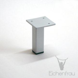 Eichenfrau Möbelfuß aus Stahl alufarben 8 cm